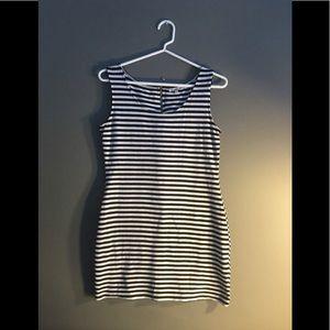 Charlotte Russe Mini Dress Striped Black and White